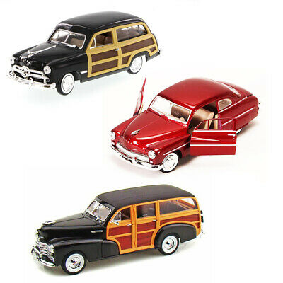 Best of 1940s Diecast Cars - Set 28 - Set of Three 1/24 Scale Diecast Model Cars