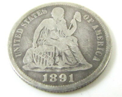 1891 United States Seated Liberty Dime