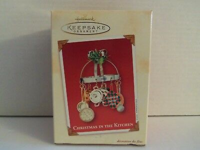 NIB Hallmark Christmas in the Kitchen 2002 Pots and Pans Ornament