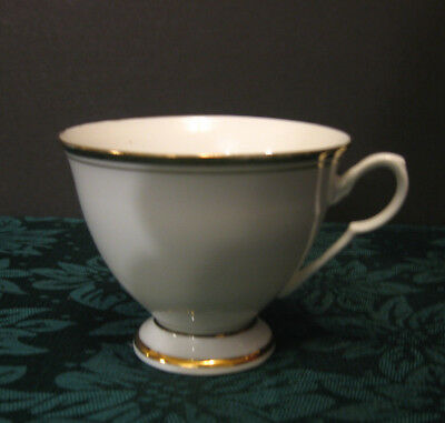 China White Tea/Coffee Cup Trimmed in Gold - Good Condition