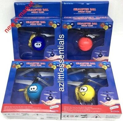 Xmas Gift Helicopter Ball Magic Electric Flying Funny Face Gadget Autopilot Usb