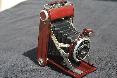 Kinax Baby 120 Folding Camera Red OB looks new made in France