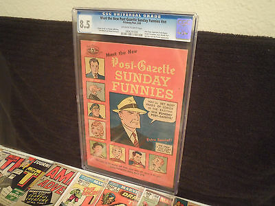 Meet The New Post Gazette Sunday Funnies (Cgc 8.5/very Fine-) Archie Superman