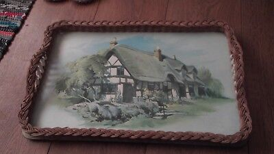 Melamine Tray , Thatched Cottage