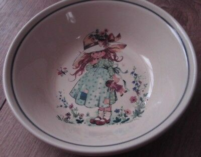 """Hornsea 6.5"""" Dish , Girl With Doll Pattern"""