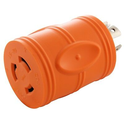 20 Amp NEMA L14-20P to 20 Amp NEMA L6-20R Generator Outlet Adapter by AC WORKS®