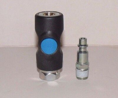 """Safety air coupler 1/4"""" FNPT - ISI 061201 w/ free plug-PREVOST"""