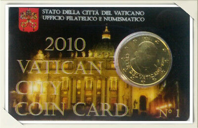 50 cent - Vatican City Coin Card 2010 N. 1
