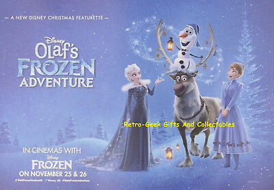 Disney Olaf Frozen Adventure A3 Kids Two Sided Cinema Posters With Activitys