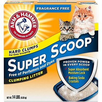 Cat Litter Clumping Fragrance Free Super Scoop Pet Supplies Dust Free Solid 14Lb