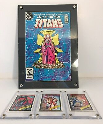 CURRENT COMIC BOOK SHOWCASE:CLEAR POLYSTYRENE, WALL MOUNTABLE & CARD HOLDERS-wow