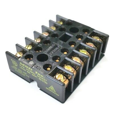 NEW MSD 27390J 12 Contact, Round Pin Socket for 219 Series Relays 10A @ 600V AC