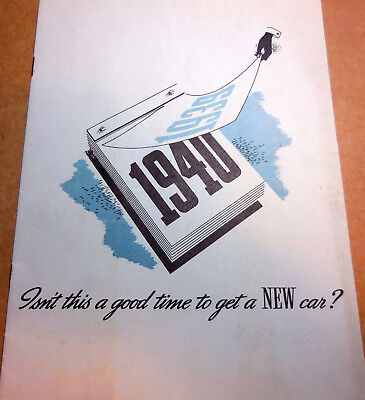 "Rare Original 1940 Ford ""Isn't This Good Time to Get a New Car"" catalog brochure"