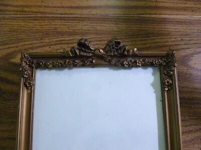 Antique Ribbon Top Picture Frame 15 x 9.5
