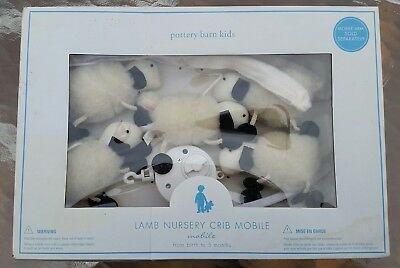 NEW POTTERY BARN KIDS LAMB NURSERY CRIB MOBILE- Central NJ PU Available