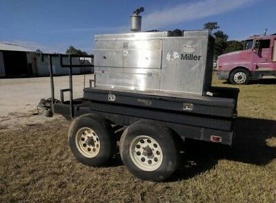 Miller Big Blue 402P Cc/dc Welder/generator With Low Hours And Trailer