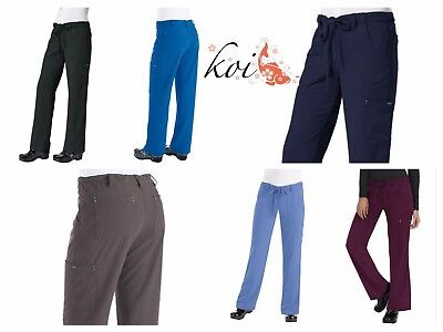 17f0b19b6a8 New koi 715 Alicia Pant Sapphire Four-Way Stretch Scrubs Cargo Pant Petite  only!