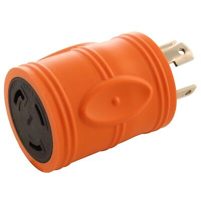 Compact Generator Adapter NEMA L14-30P to NEMA L5-30R by AC WORKS®