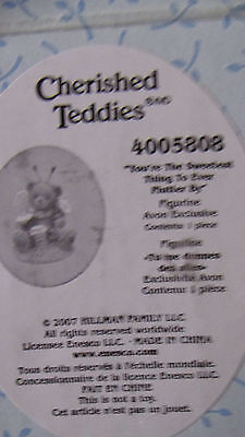 cherished teddies your the sweetest thing to ever flutter by