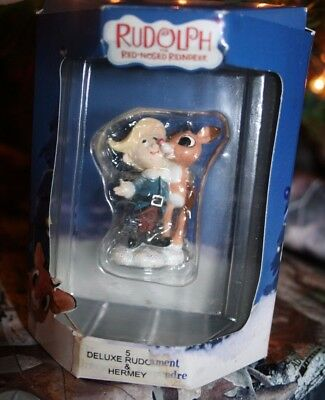 ENESCO Rudolph and Hermey The Island Of Misfit toys ornament UNOPENED NIB