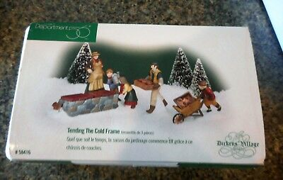 "DEPT. 56 Dickens Village Series :""Tending The Cold Frame"" (set of 3) Dated 1998"
