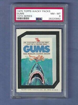 Wacky Packages Series 15 Gums Psa 8 Nmmt