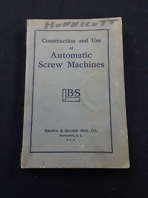 1953  Automatic Screw Machines Instruction free shipping