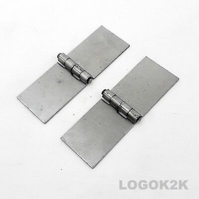 Pair (2pc) Backflap Weld On Hinges Strap No Holes Heavy Duty  ( 35mm x 100 )