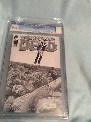The Walking Dead Issue #100 Sketch black/white Variant CGC 9.9!!!