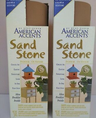 american accents sand stone texture art saddle brown 2x 340grams spray cans