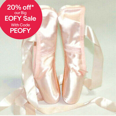 💃 Dance Ballet Pointe Shoes Pink Satin On Stage AU Stock Huge Sales Don't Miss