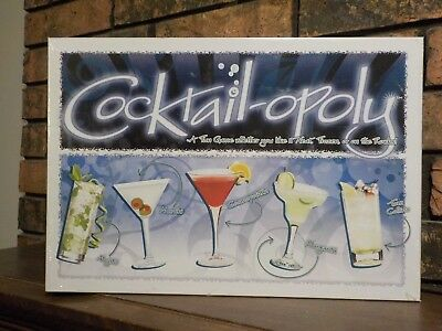 Monopoly Cocktailopoly Board Game Drinking Bar Mixology Adult New Sealed!