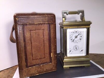 M139.  Carriage Clock, Grande Sonnerie, with calendar, alarm and case VERY NICE.