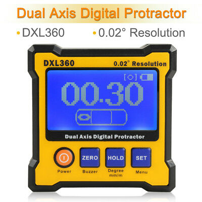 LCD Digital Protractor Angle Inclinometer Cube Electronic Gage Magnetic Base DF