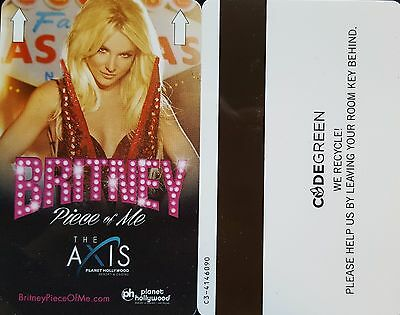 Las Vegas Planet Hollywood Casino Britney Spears Piece of Me Room Key - V 2