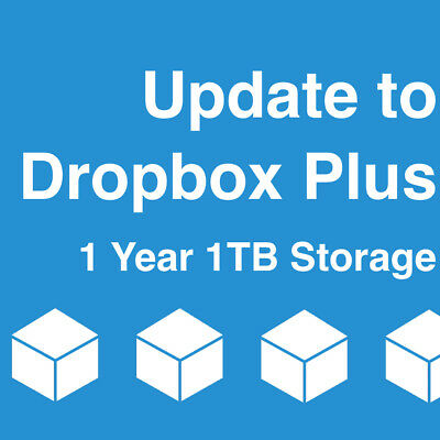 Upgrade Dropbox Basic Account to Plus Account with 1TB for One Year