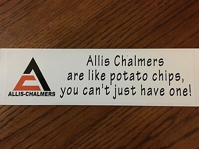 Allis Chalmers Bumper sticker  Potato chips