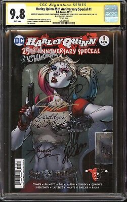 Harley Quinn 25th Anniversary Special #1 CGC SS 9.8 Signed Jim Lee, Conner +4