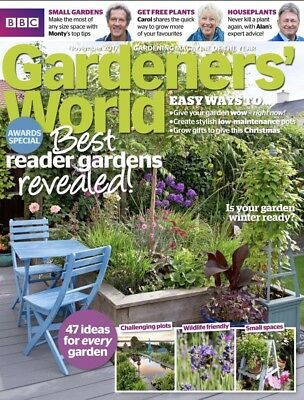 Gardeners World Magazine November 2017 (BRAND NEW BACK ISSUE)
