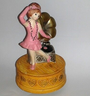 "Vintage 1974 Flapper Music Box Spencer Gifts ""Yes Sir, That's My Baby"""