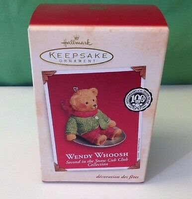 Hallmark Wendy Whoosh Ornament, 2nd in Snow Cub Club Collection, 2002, NIB