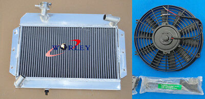56mm For ROVER/MG MGA 1500/1600/1622/DE-LUXE Aluminum Radiator & FAN