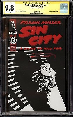Sin City: A Dame to Kill For #1 CGC SS 9.8 Signed Frank Miller 1st Dwight Movie