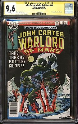 John Carter, Warlord of Mars #18 CGC SS 9.6 Signed Frank Miller 1st Marvel Work