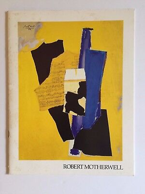 Robert Motherwell New Collages Exhibition Catalog (1984 paperback)