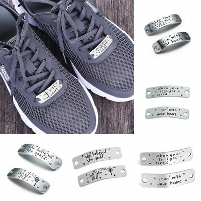 When Your Legs Get Tired Shoelace Charm Stainless Steel Tag Trainer BFF Gift Hot