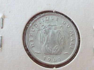 1961 Mali 5 Francs Coin Km2 Uncirculated