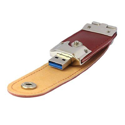 32GB USB Stick 3.0 Speicherstick Flash Drive Leder D8M7
