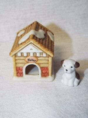 Lefton Colonial Village Rover's House and Rover Doghouse & Dog Original Stickers