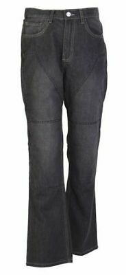HORNEE MOTORCYCLE JEANS FULLY REINFORCED WITH DuPont™ KEVLAR® - BLACK STORM